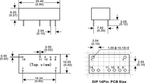 主要参数 输入电压           5V / 9V / 12V / 15V / 24V DC 输出电压 (+ - / + -)3.3V / 5V / 9V / 12V / 15V / 24V DC 如需其它规格,请咨询顺源科技公司 电气特性 以下数据除特殊说明外,均是在 TA=25C,标称输入电压, 额定输出电流时测得 输入特性 电压范围 +/- 10%*标称值 滤波 陶瓷电容 隔离特性 额定电压 1000 VDC 泄漏电流 1 mA 电阻 109Ohm 电容 60 pTYP 输出特性 电压精度 +/