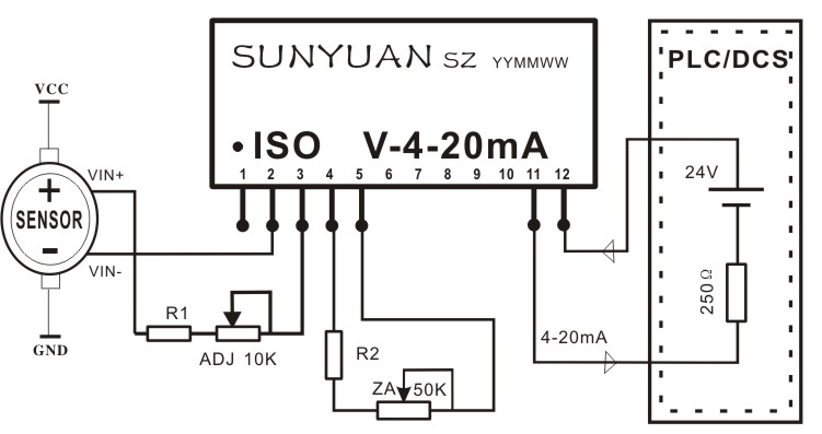 iso rpoa series of displacement resistance bridge signal