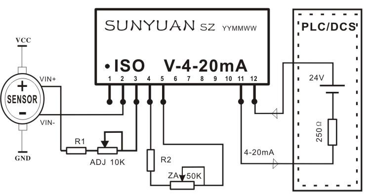 位移电阻信号变送器IC