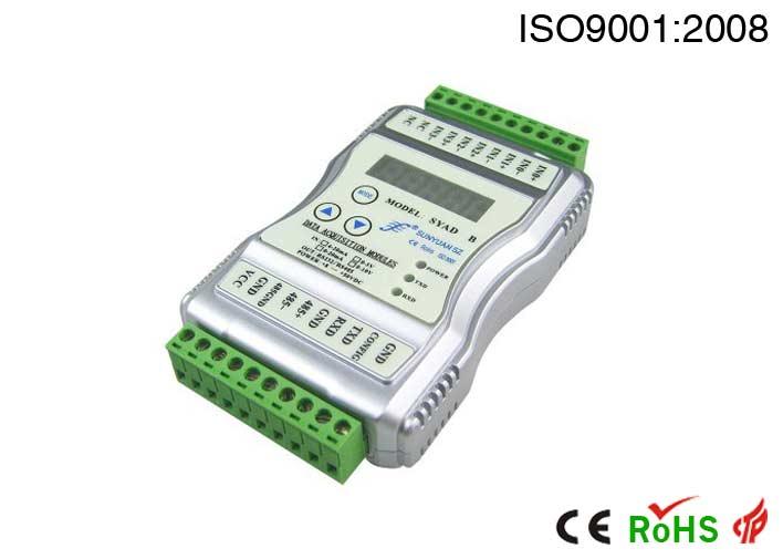 显示控制模拟量数据采集器.多路传感器信号监测转换数据采集器:SYAD 02C系列