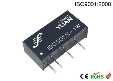 单路输出稳压有自恢复过载短路保护模块电源.DC-DC模块电源:IB S/D-xW系列.