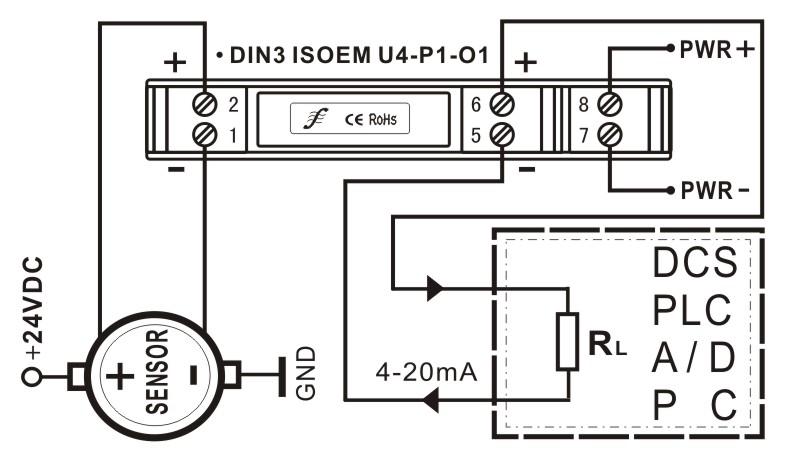 外形尺寸及典型应用       工业现场传感器与仪器仪表、PLC、DCS等控制系统经常由于系统干扰、有源信号、无源信号、有源负载、无源负载的信号冲突和阻抗匹配问题而无法正常工作。正确选择隔离放大器变送器能有效解决信号干扰、阻抗匹配和信号源与控制系统的冲突问题。顺源科技研发生产的ISO系列隔离放大器变送器产品,可以满足仪器仪表、PLC、DCS、DSP设备与现场温度、位移、压力、频率等各种传感器采集到的模拟信号通过隔离、放大、转换匹配后传送。传感器与仪器仪表连接方案参考资料下载:工业现场传感器与仪器仪表、PL