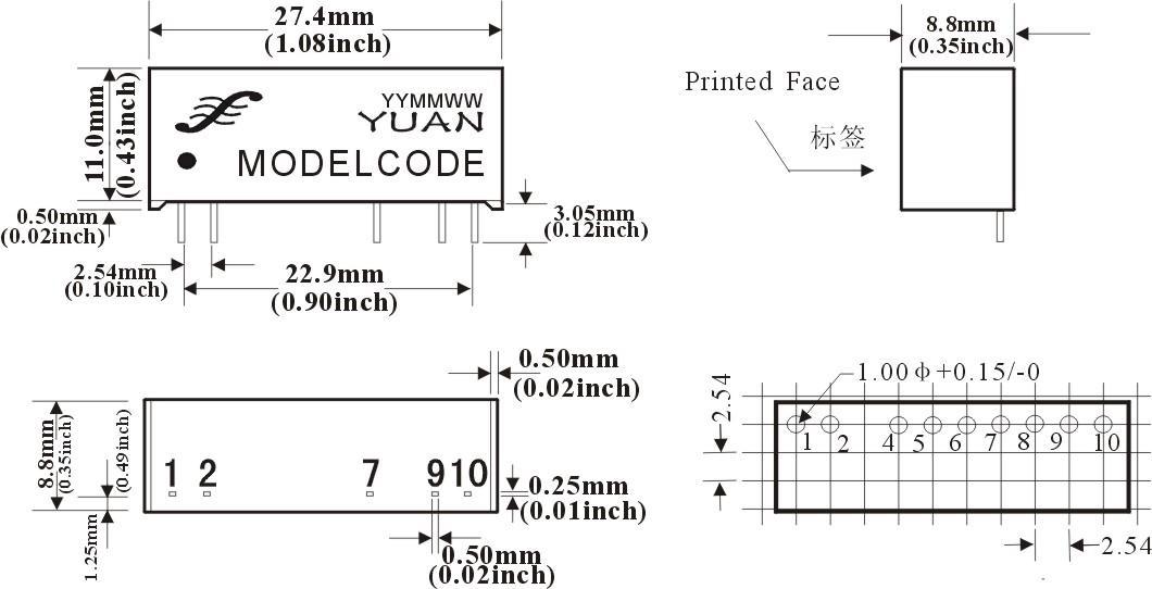顺源科技根据电能表、配电负荷检测仪、电力负荷控制终端、用电管理终端等电力行业仪器仪表制造厂商要求,按照最新国家电力行业标准(DL) DL/T614-2007的相关规定设计生产出一系列电力仪器仪表RS485接口抗浪涌防静电高隔离模块电源。 这些电力行业专用的DC-DC模块电源已通过三相电能表(DL) DL/T614-2007招标检验,具有抗浪涌4KVAC(6KVDC)高隔离、8KV防静电、输出稳压(1% 精度)、输出有自恢复过载短路保护等功能。 产品常用规格有: 3KVAC/4KVAC 脉冲群高隔离,输出功