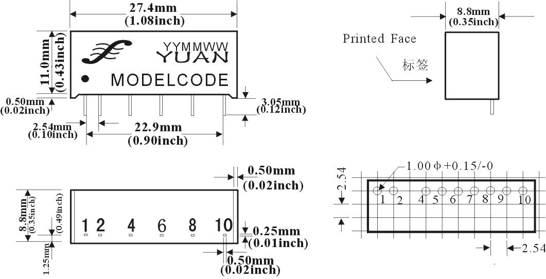 sunyuan顺源科技双回路隔离稳压输出模块电源