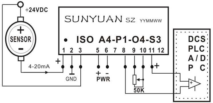 输入端配电型隔离变送器ic