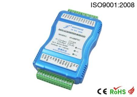 低成本多通道,模拟信号数据采集器.SY AD 02A/04A-RS232/485系列多路数据采集器.