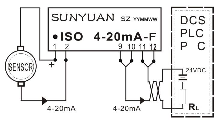 变送器常用电路供应商   iso   4-20ma-f采用磁电隔离方式,温度系数好