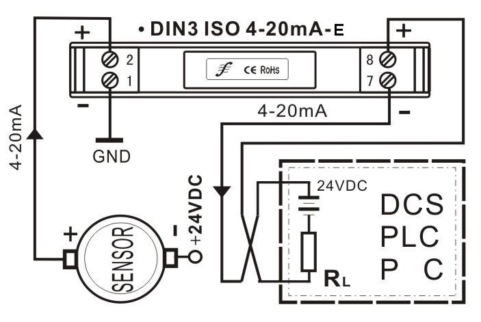 首页 电子元器件 集成电路(ic) 供应din3系列 两线制4-20ma模拟量隔离
