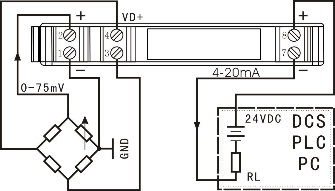 隔离放大器新品:din3系列电位器,电桥二线制电压信号变送器