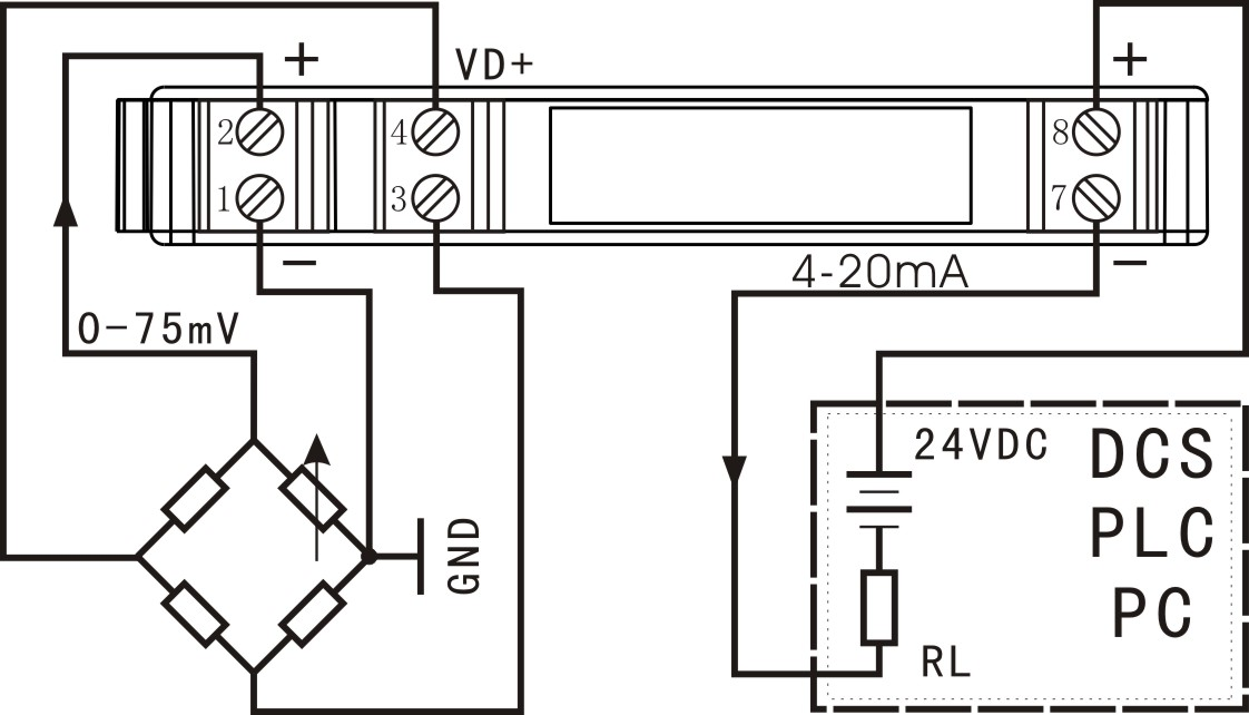 SunYuan超小体积、低成本、高精度标准DIN35导轨安装的隔离变送器,是二线制电压信号隔离配电模块,可实现两线制电压输入配电型传感器和电桥(称重)检测电路的电压信号配送。 产品设计为低成本、小体积的标准DIN35导轨安装方式,内部包含电流信号调制电路,电磁隔离变换电路及信号还原解调电路。供电电压范围12-32VDC,输入等效电阻小、线性度高,信号输入与输出之间可达到3000VDC隔离耐压。产品使用十分方便,无需外围器件,即可实现两线制电压输入配电型传感器和电桥(称重)检测电路的电压信号隔离输出功能,用