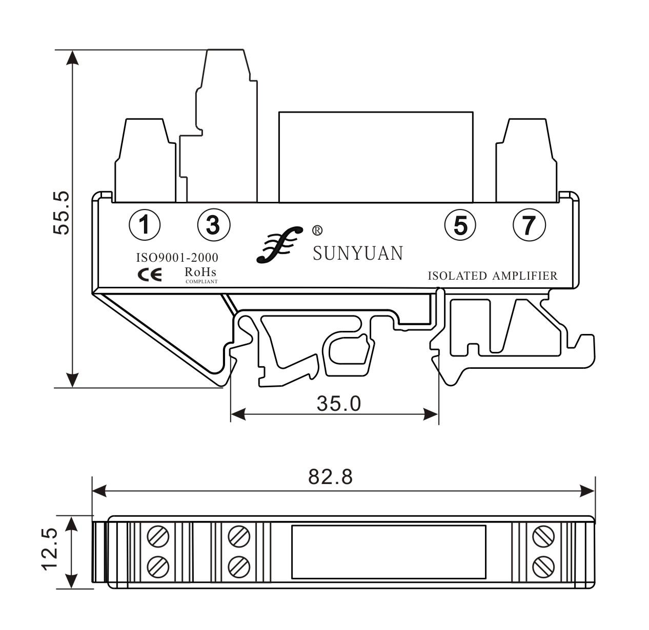 隔离放大器新品:din3系列电位器