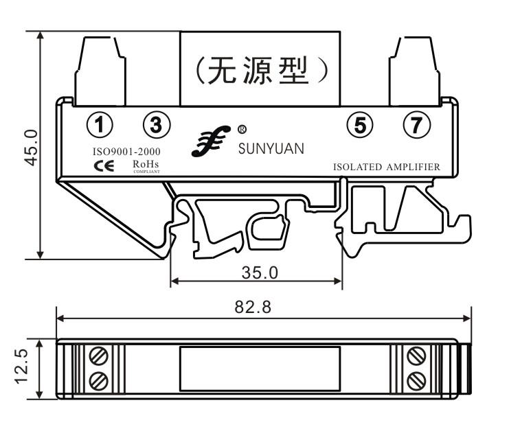 供应din3系列 两线制4-20ma模拟量隔离控制器 din3 iso 4-20ma-e