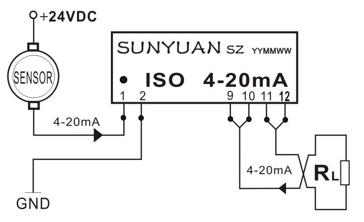 4-20ma(0-20ma)电流环路隔离器隔离放大器隔离变送器