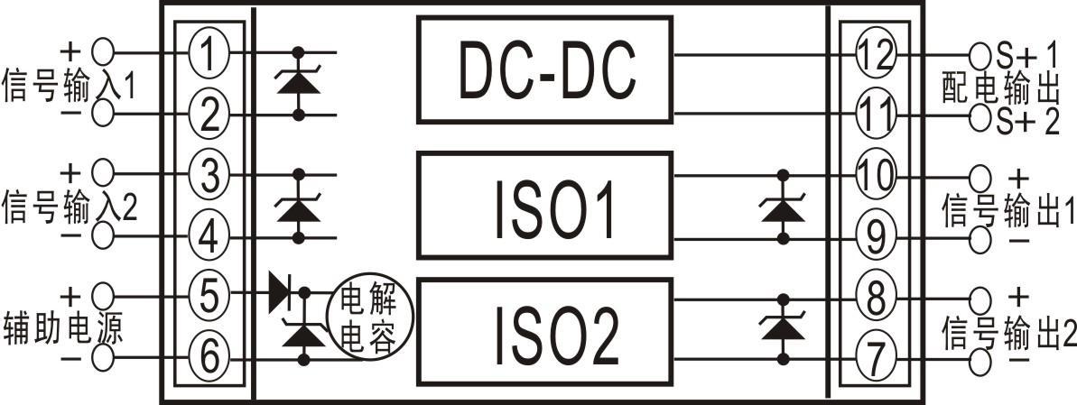 双路输入双路输出信号配电隔离变送器