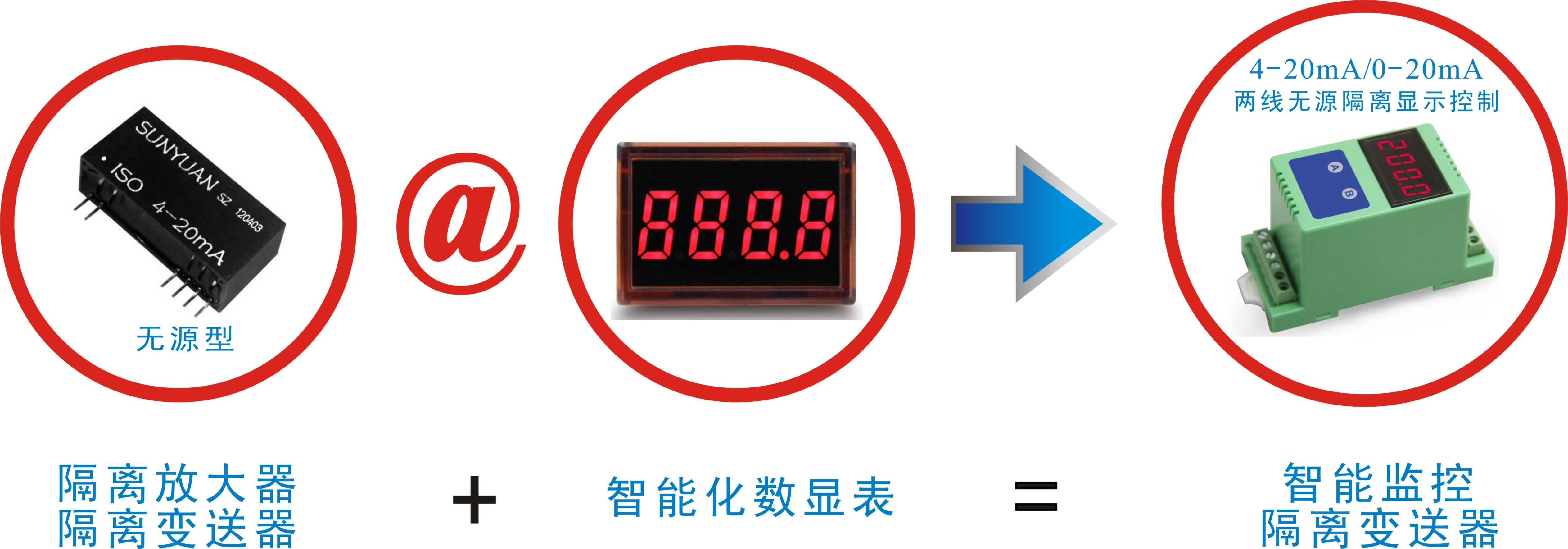 智能电流表隔离变送器4-20ma数显表