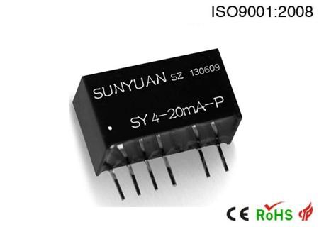 两线无源型小体积回路馈电输出方式调理器:SY 4-20mA-P系列.