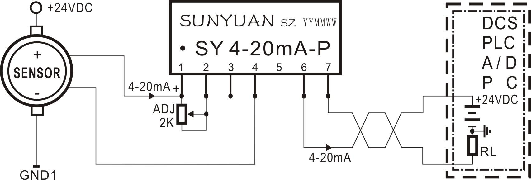 传感器4-20ma电流信号采集调理电路(两线制回路馈电输出方式)