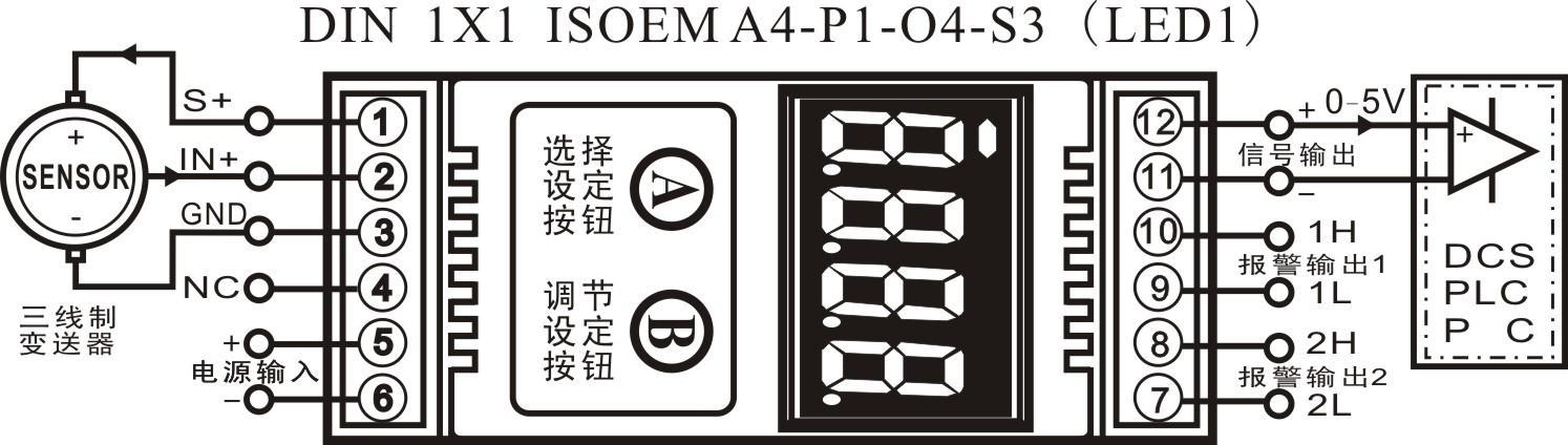 产品特点  低成本模块化设计,方便变送器、仪器仪表嵌入安装  两线制无源型工作方式,无需其它辅助电源供电  测量精度、显示位数高,达到四位,2字  采用LED显示面板,可适应有光和无光环境  小体积设计:外形尺寸3522.5mm,厚17.5mm  工业级温度范围:-45~80,具有高可靠性 典型应用  传感器、变送器工作运行状态显示  工业设备运行测量、监视和远程控制  石油、化工、环保、采矿系统控制点监测  温度、压力、流量、液位信号监测显示  PLC、DCS系统运行数据的获