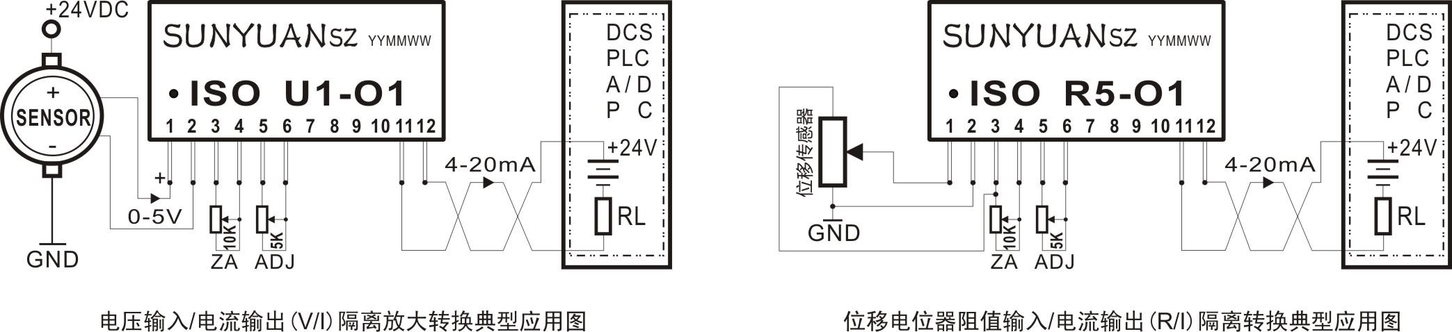 两线无源回路馈电型模拟信号隔离变送器
